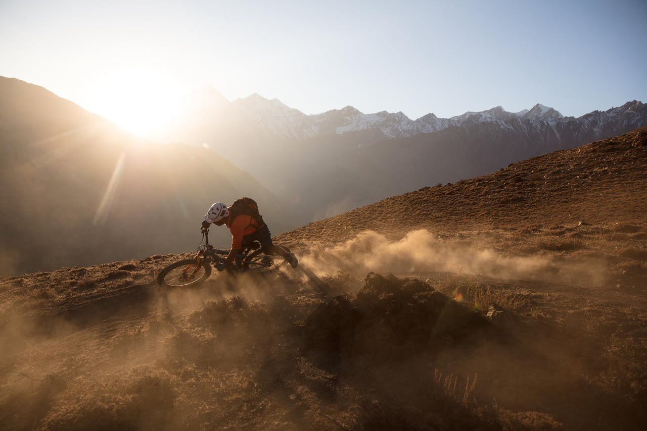 RJ Ripper riding in Nepal