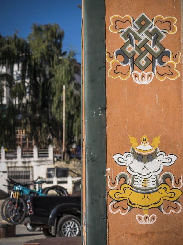 Bike loaded on a tailgate in Bhutan