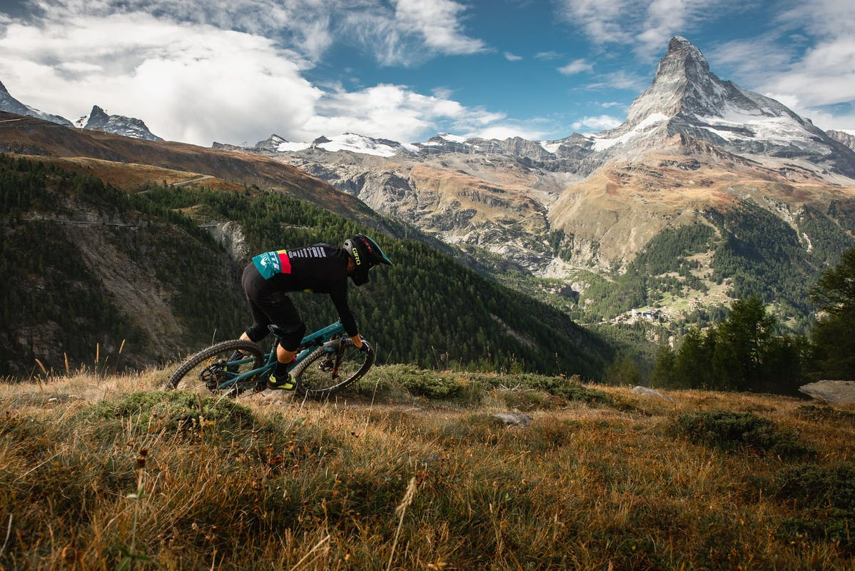 Shaun Neer riding in Zermatt