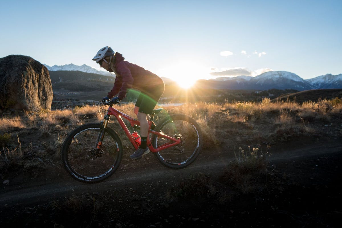 Sarah Rawley riding into the sunset in Colorado