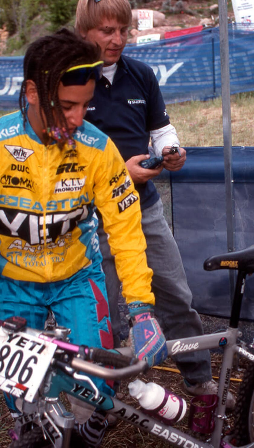 1992 Missy Giove in the pits