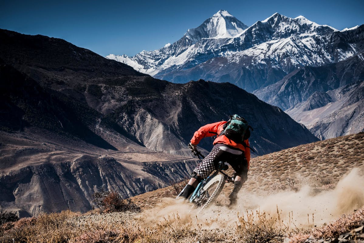 RJ Ripper foot off high in the Himalayas