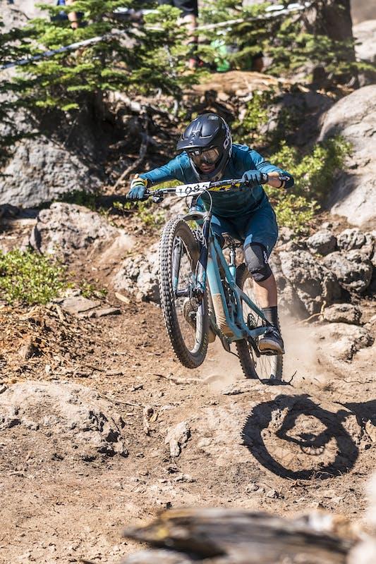 Jonathan Lee racing enduro in Tahoe