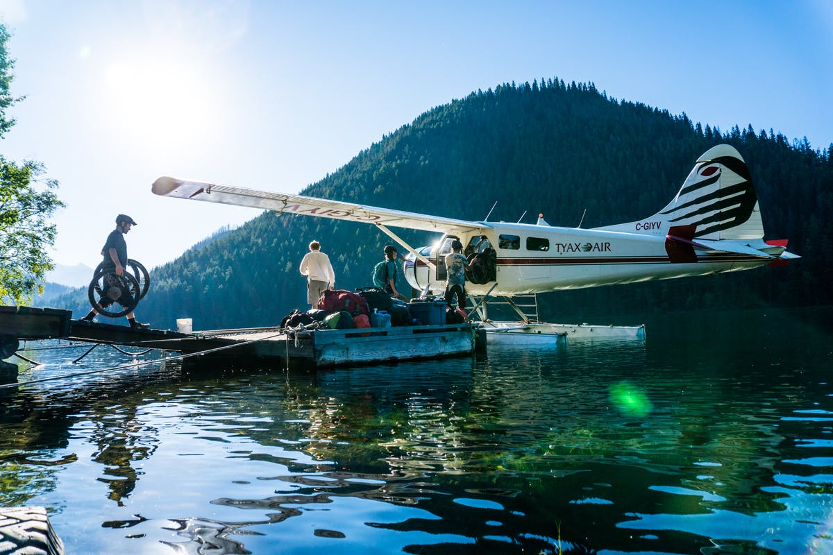 Loading a float plane to start a real adventure.