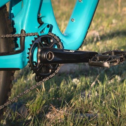 Shimano XT crankset on Carson Eiswald 2020 Race Bike