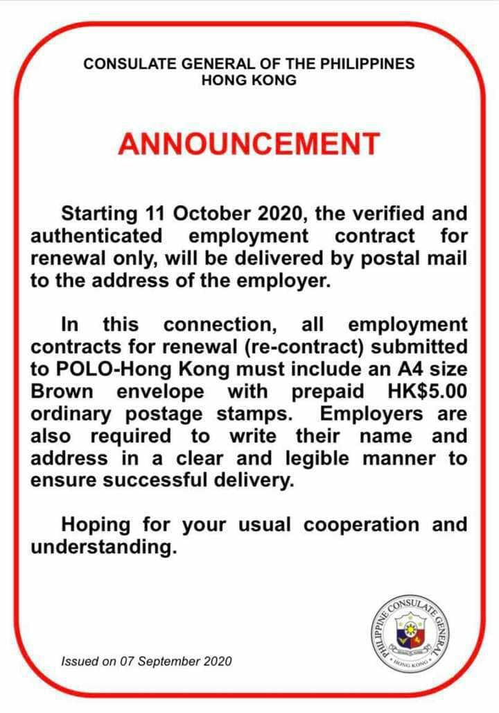 Contract Renewal For Domestic Helper