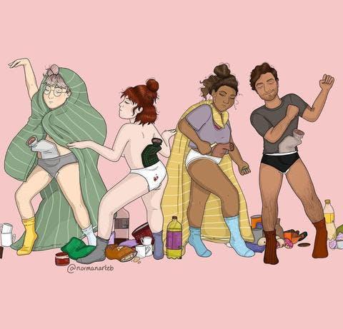 Menstrual Art: Pants Party