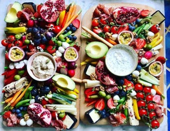 healthy family fruit and veg platters