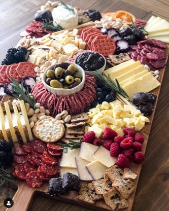 fromage and honey cheese grazing board