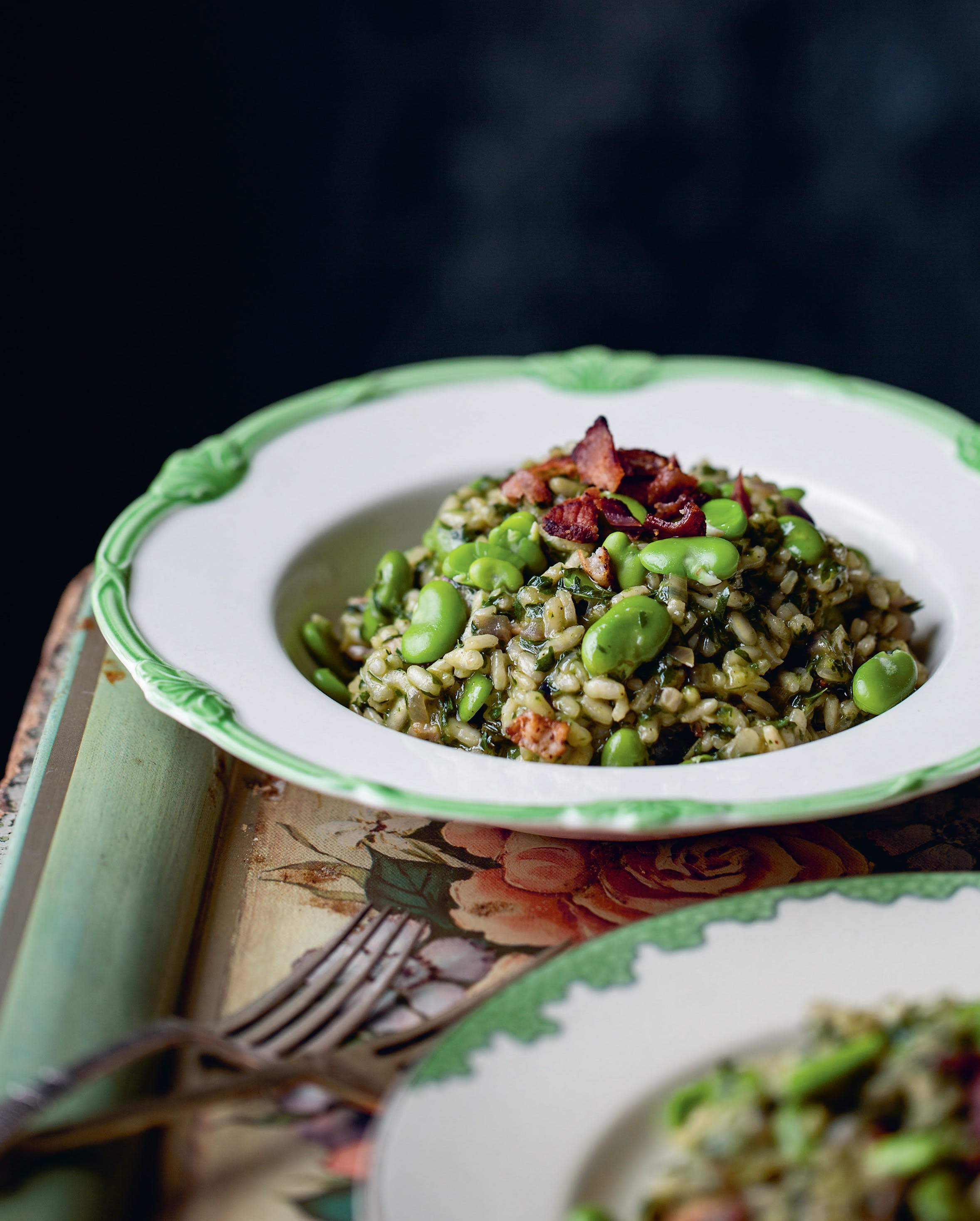 Parsley, Bacon & Broad Bean Risotto