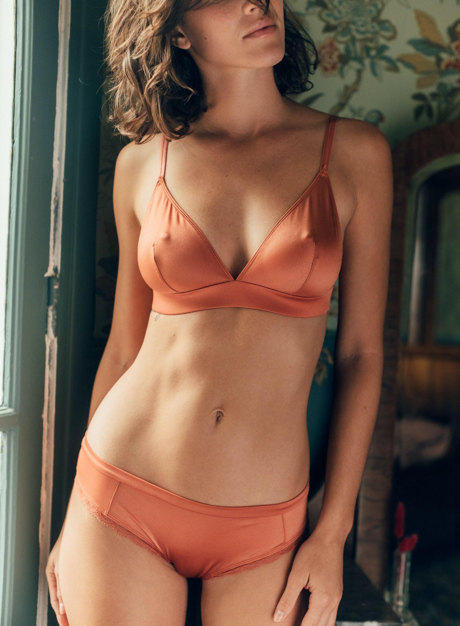 ensemble de lingerie hasard des jours céramique triangle et shorty céramique
