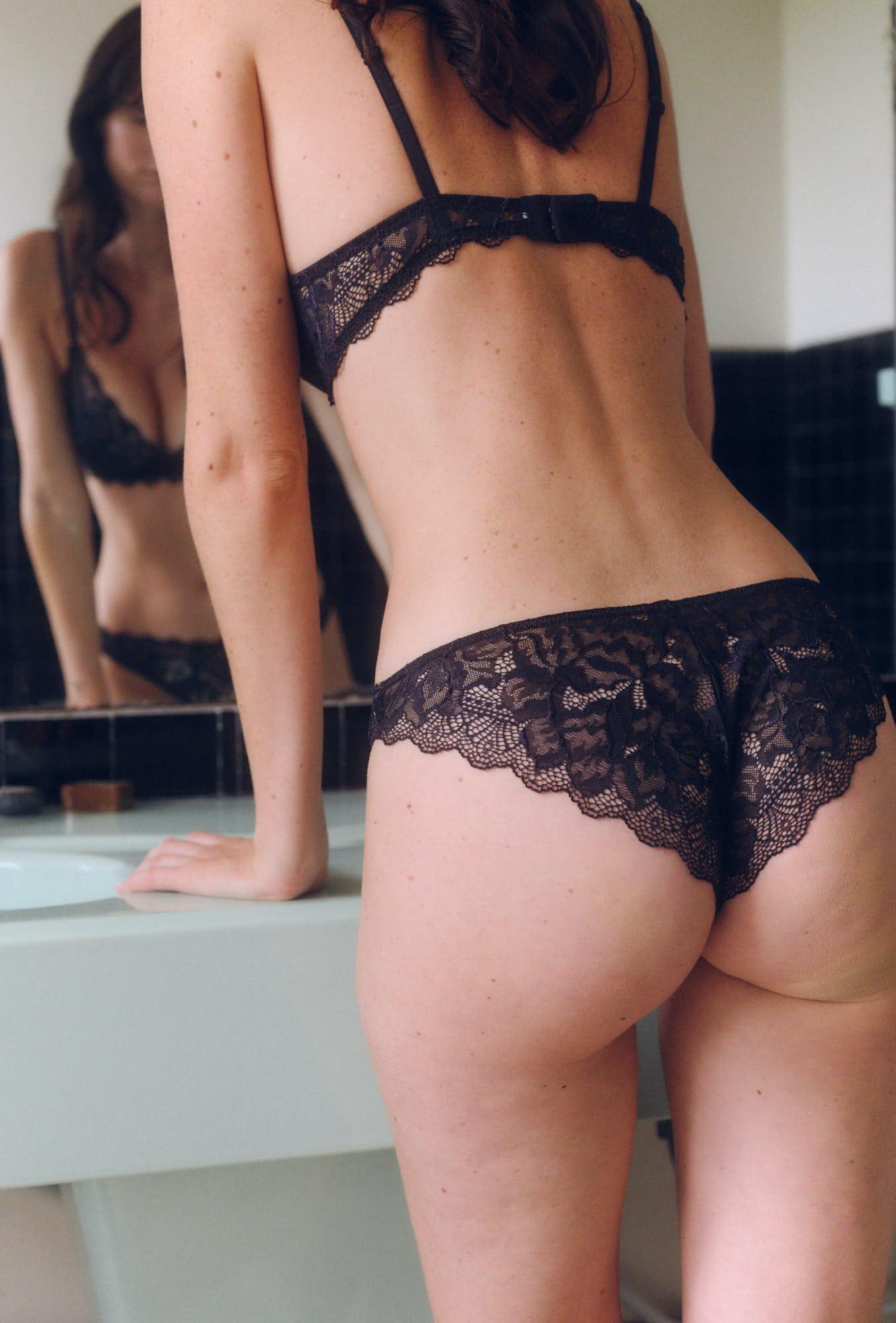 culotte chassé-croisé noir