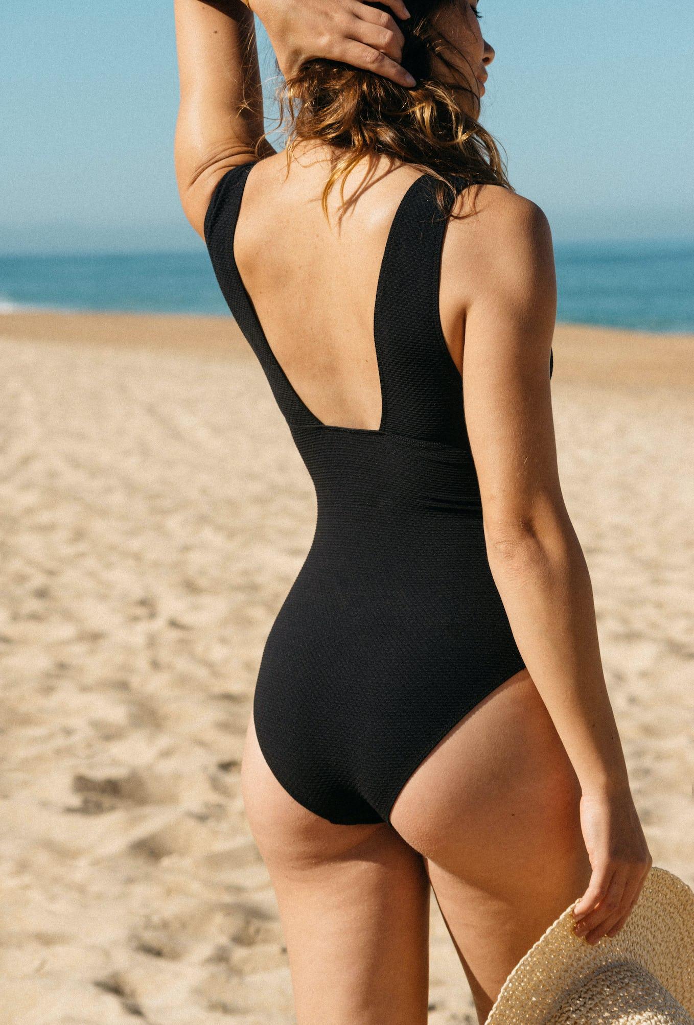 One piece swimsuit Rêve d'horizon noir