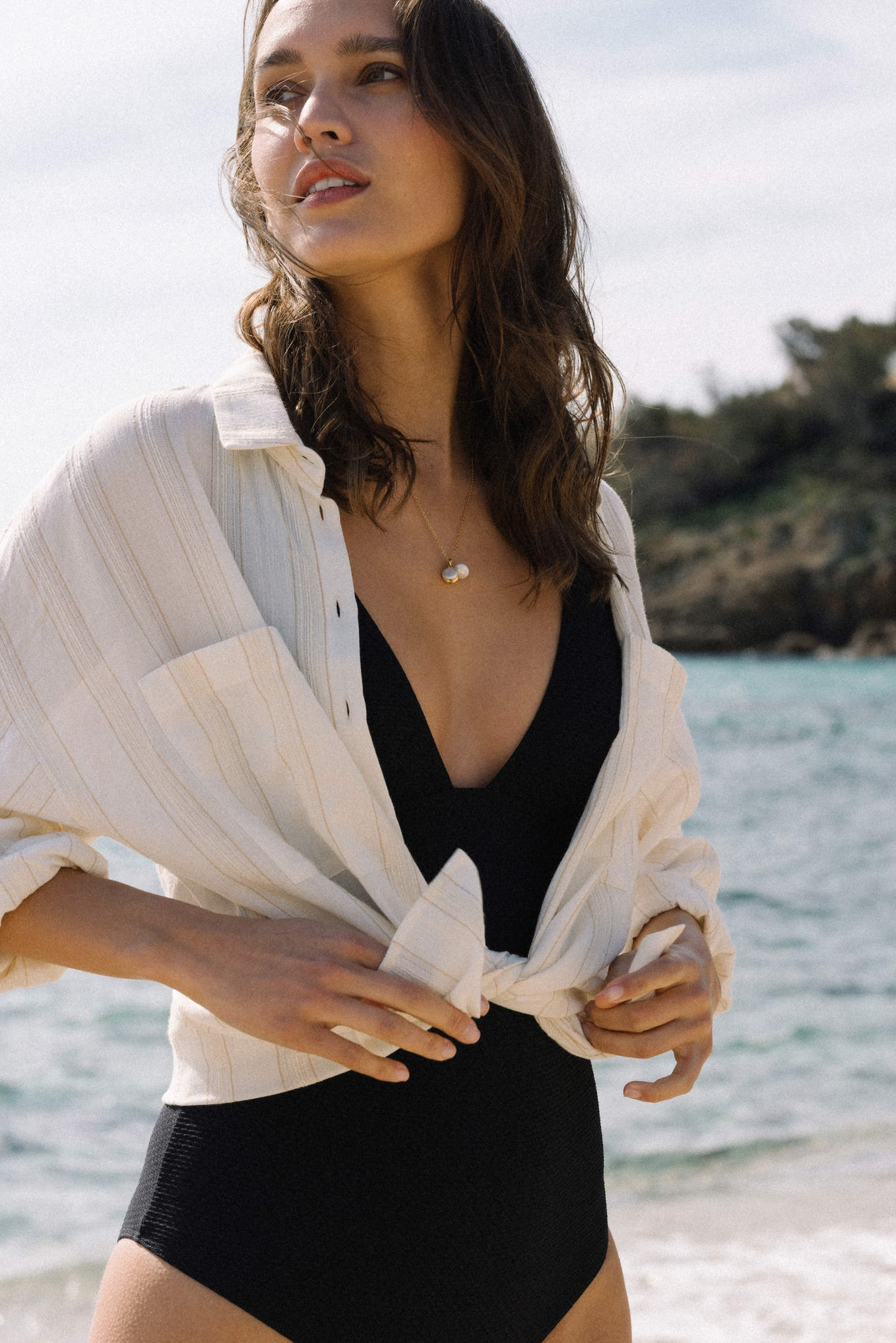 Shirt Doux refuge in ivory