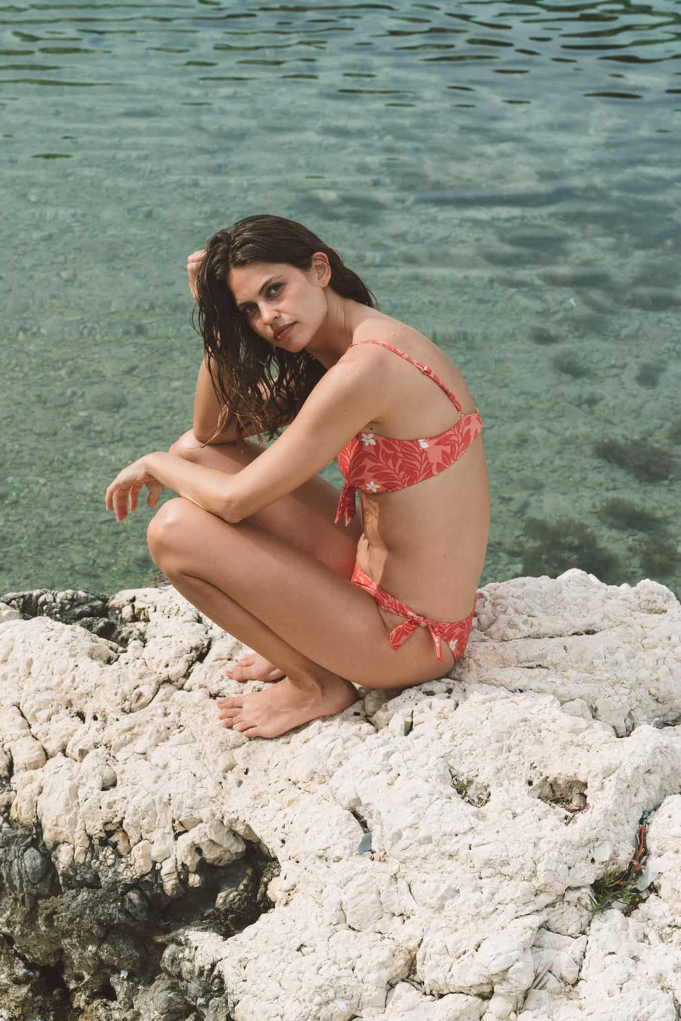 Swimsuit Murmure des vagues imprimé Mediterranée