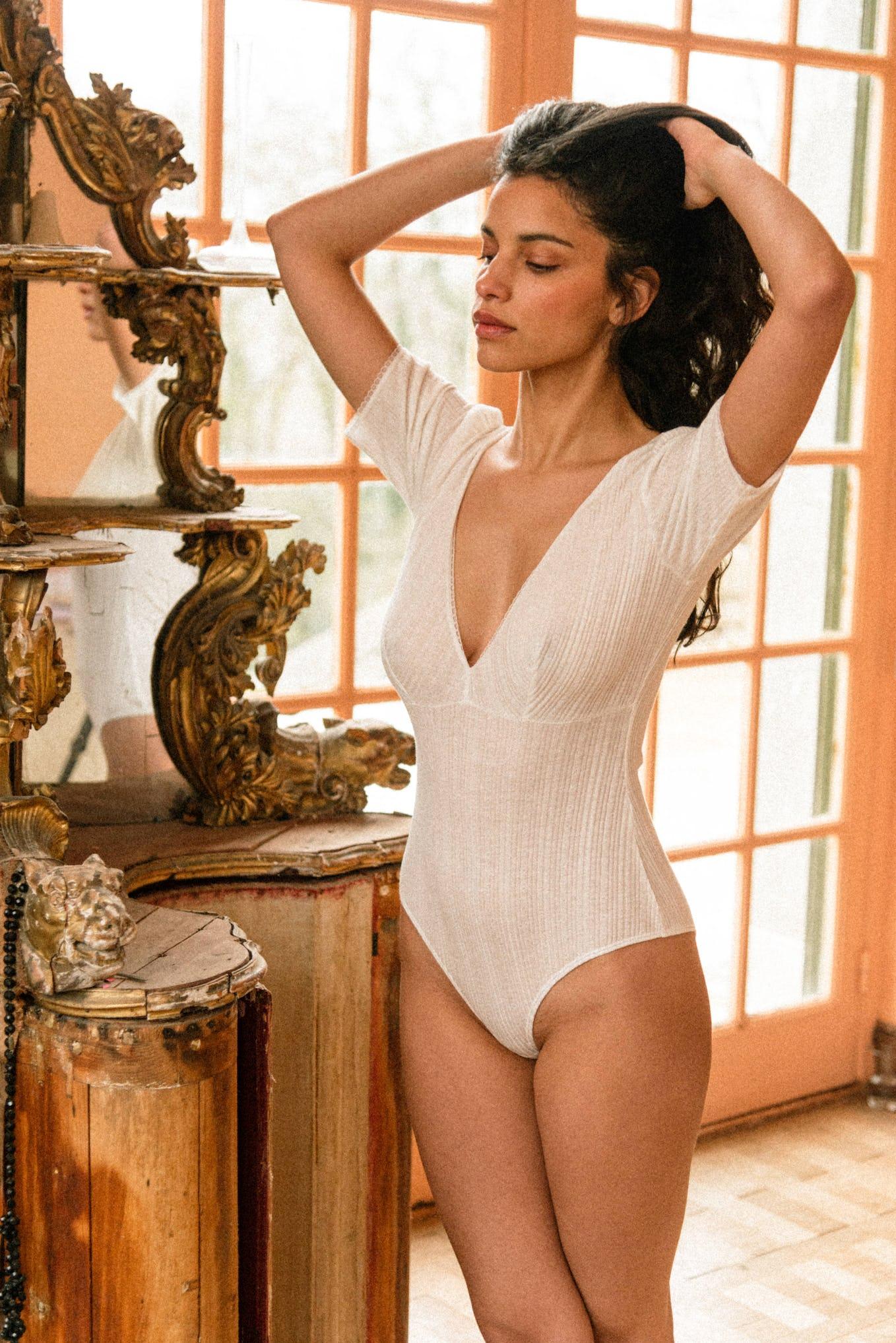 Tamara Bodysuit in ivory