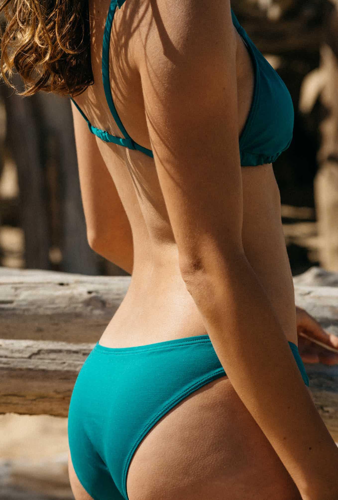 Swimsuit Marché aux fleurs emerald green