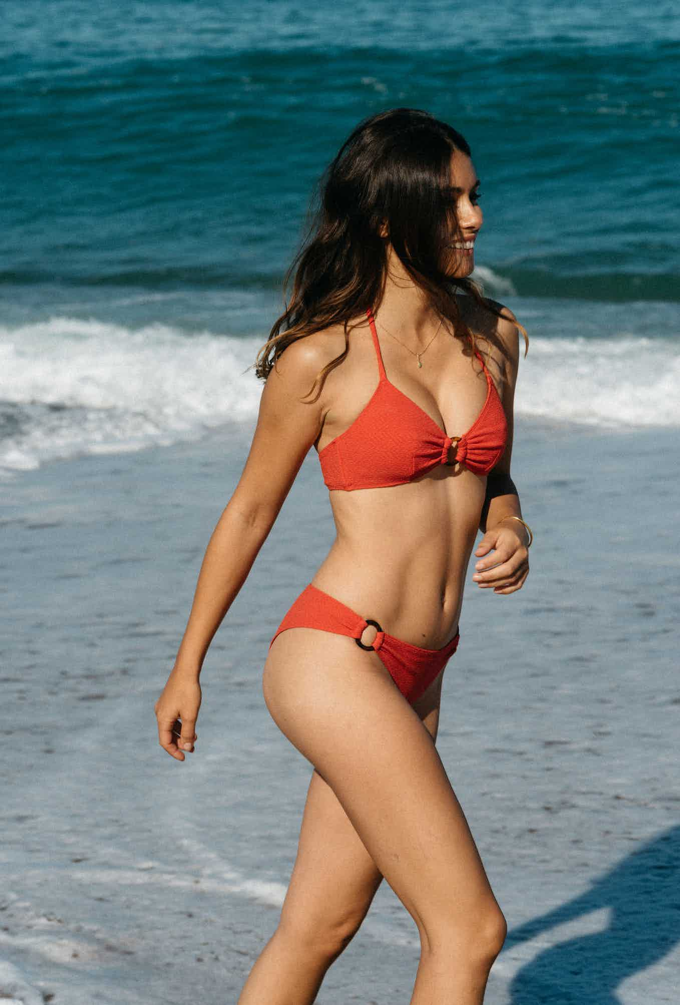 2 piece swimsuit Horizon doux in coral red