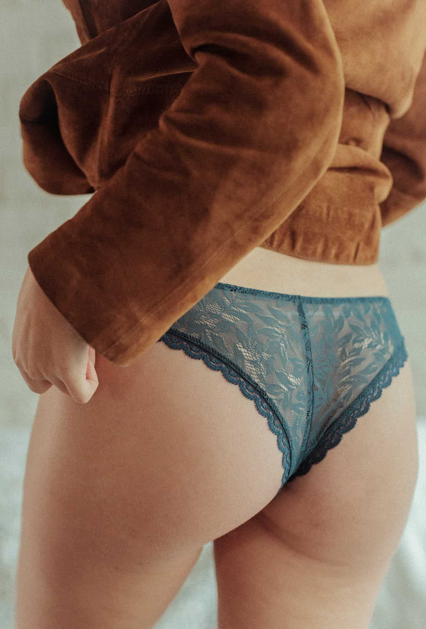 Les flots du coeur Tanga briefs teal blue