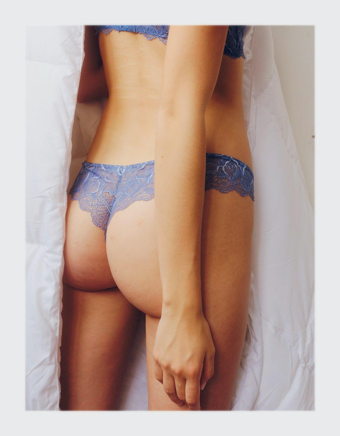 Chassé croisé tanga bleu outremer - frame