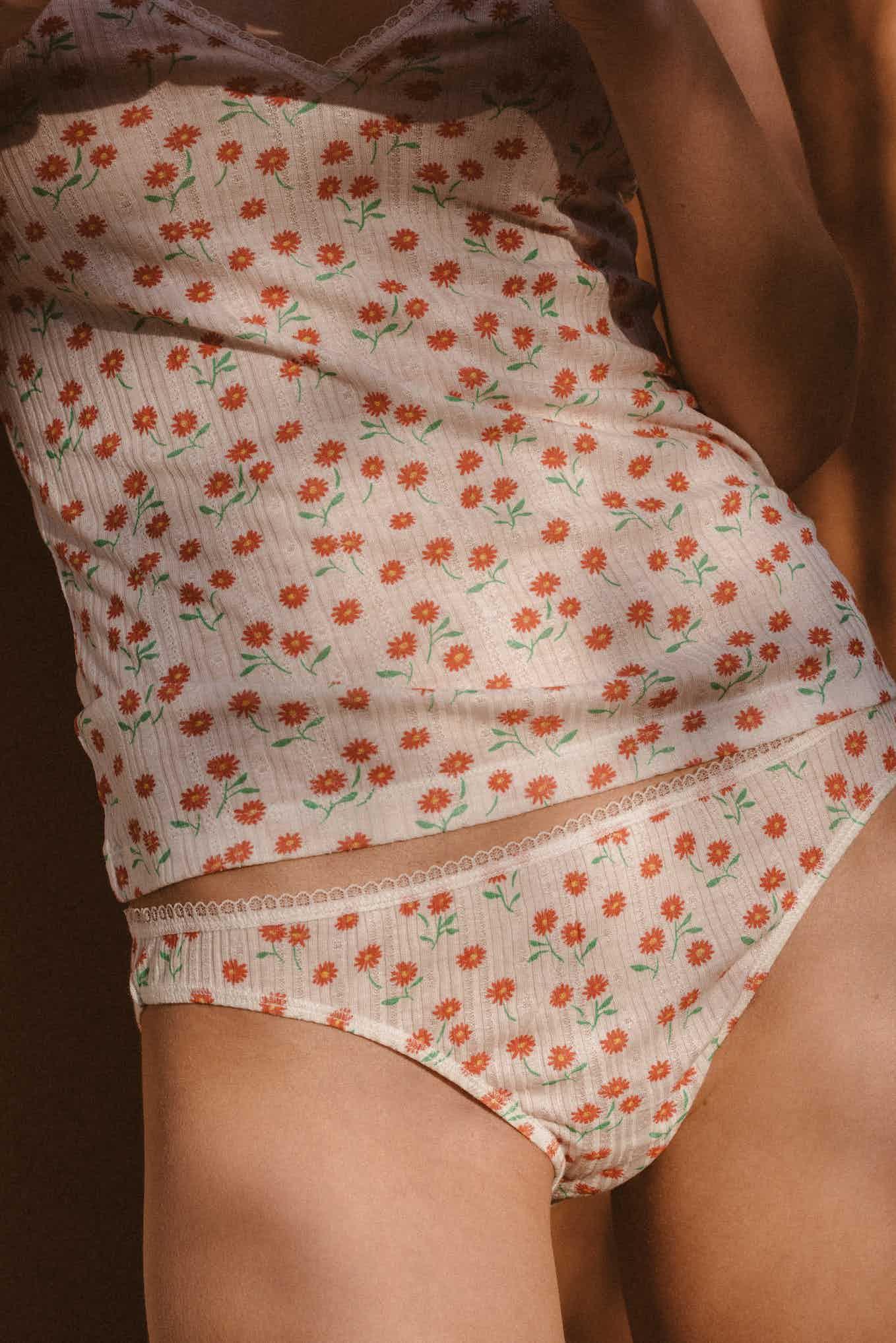 Homewear Sur la terrasse print florette
