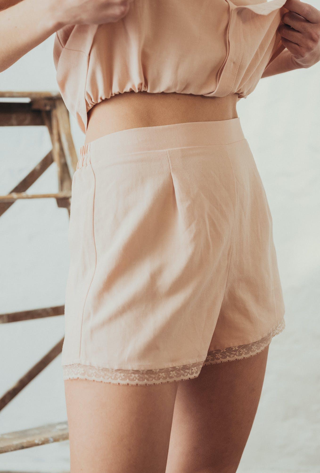 l'ombre du tilleul rosé shorts