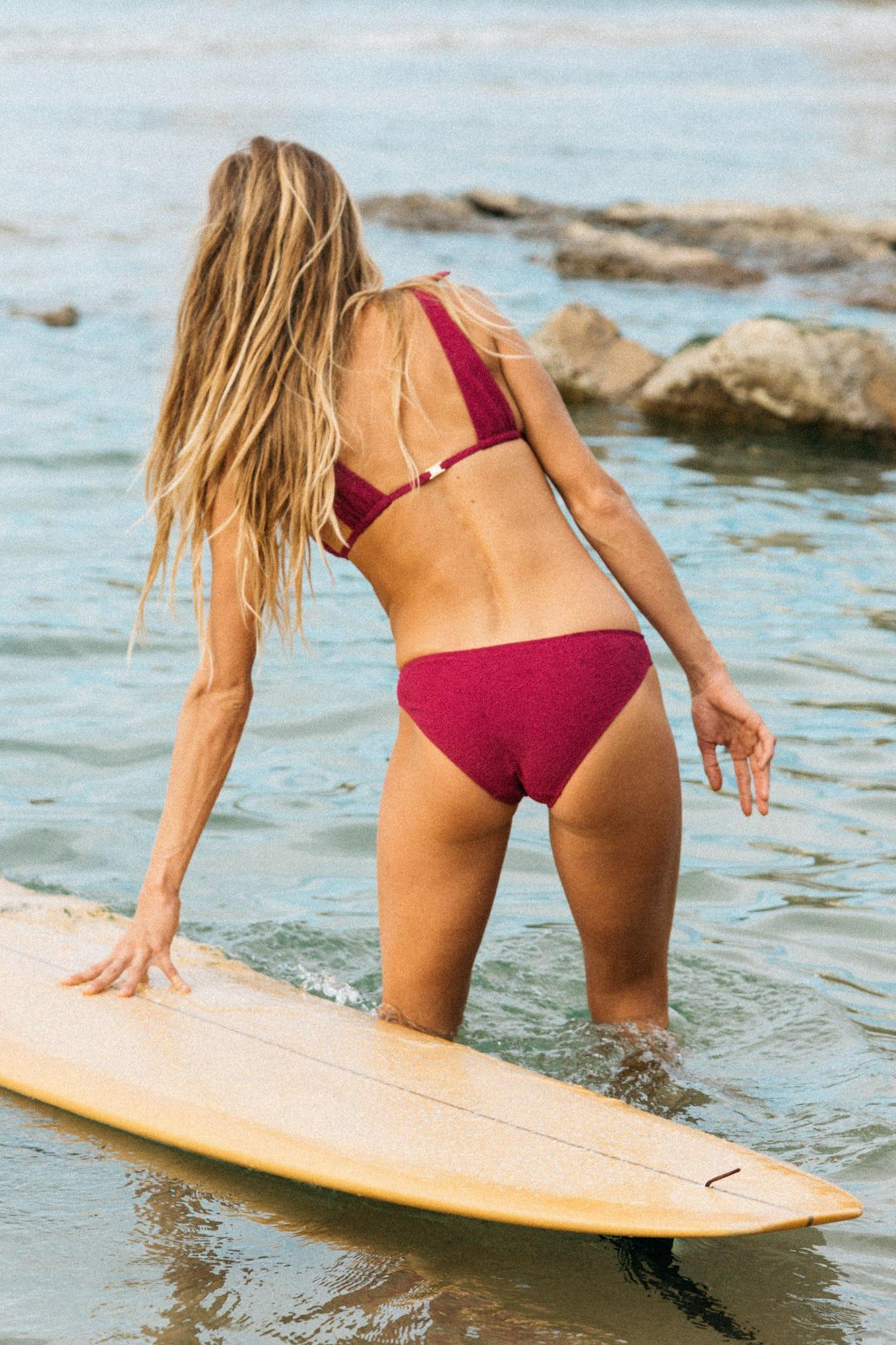 Bikini Sur le sable Fuschia