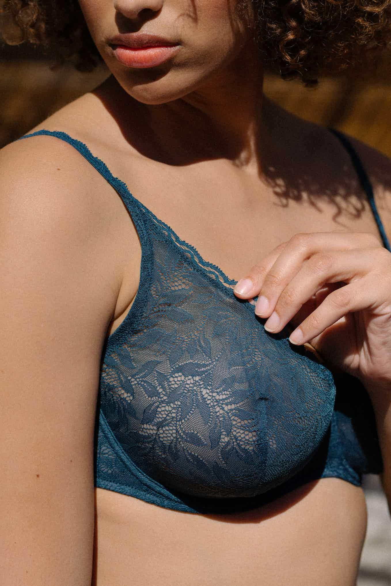 Lingerie set Les flots du coeur in Duck blue