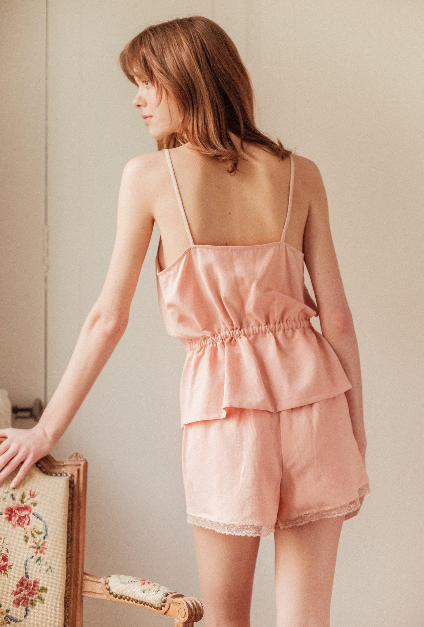 Pyjama L'ombre du tilleul rosé