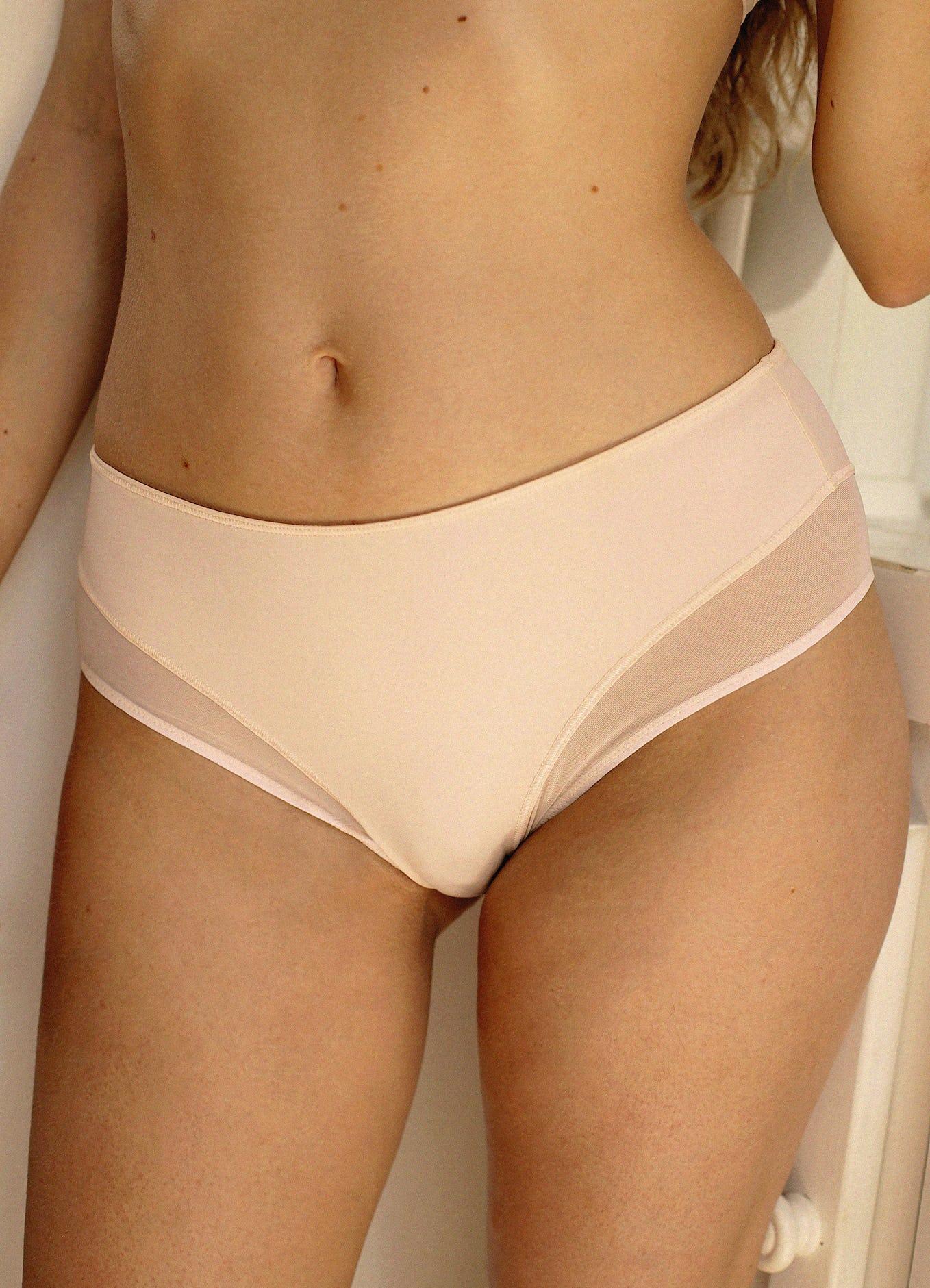 culotte haute histoire de femme beige clair