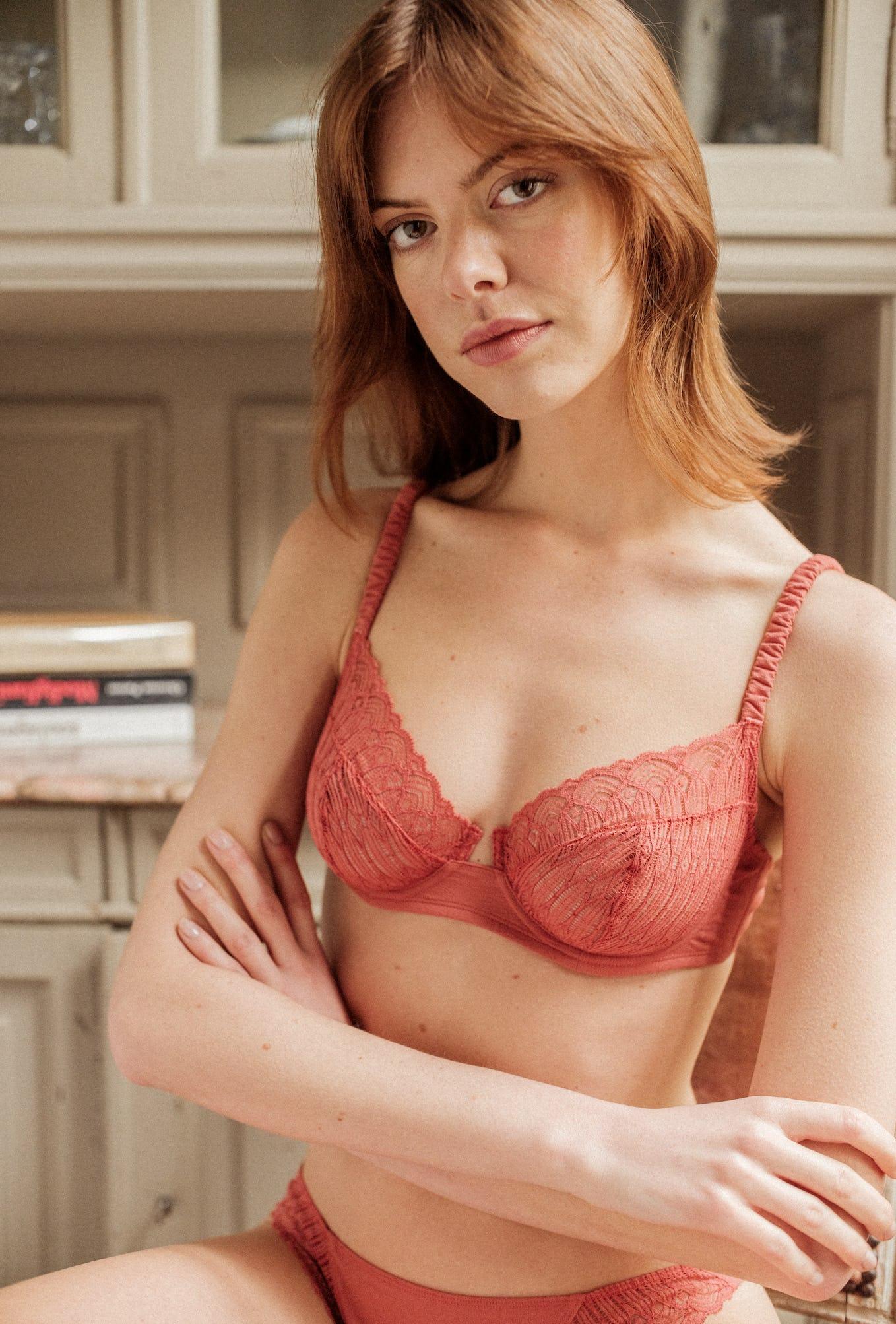 Sur mon épaule pink tea soft-cup bra