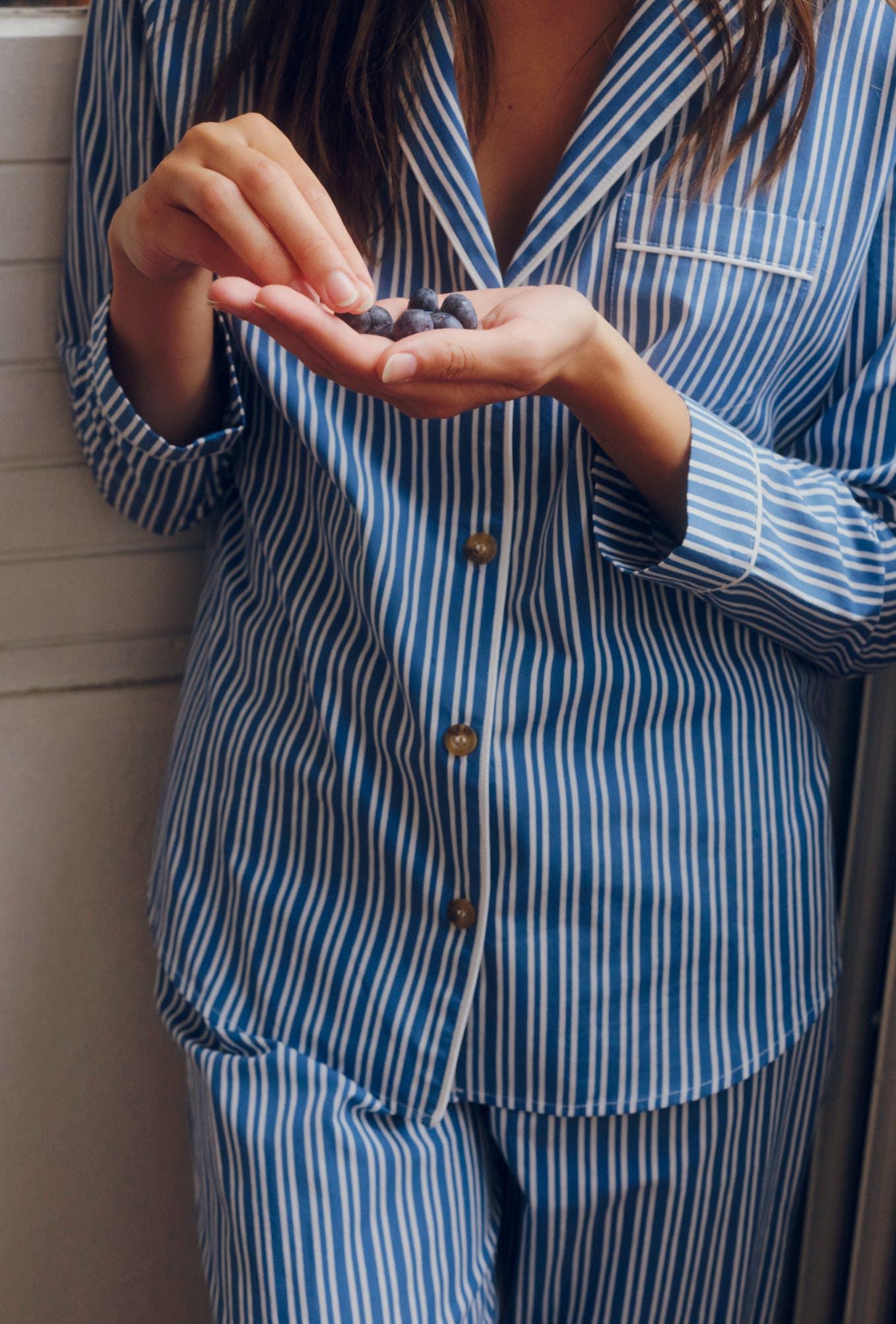 chemise songe de nuit bleu outremer