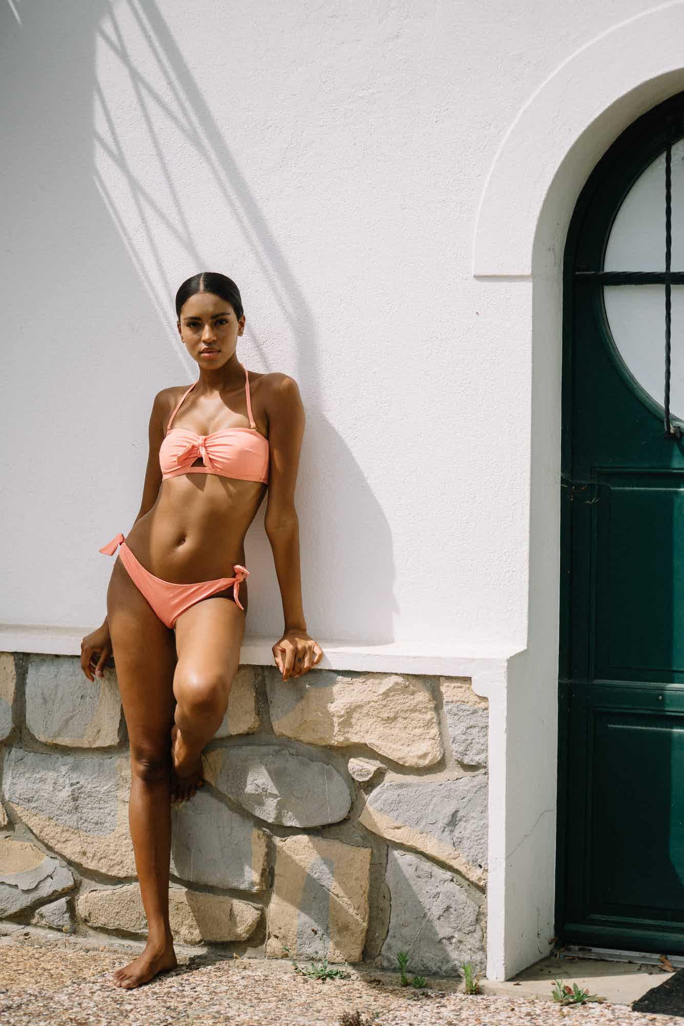 Bikini Murmures des vagues peach