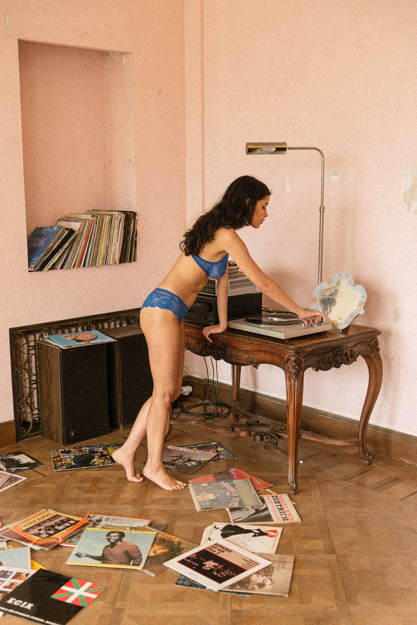 Ensemble de lingerie Le jour commence coloris bleu azur