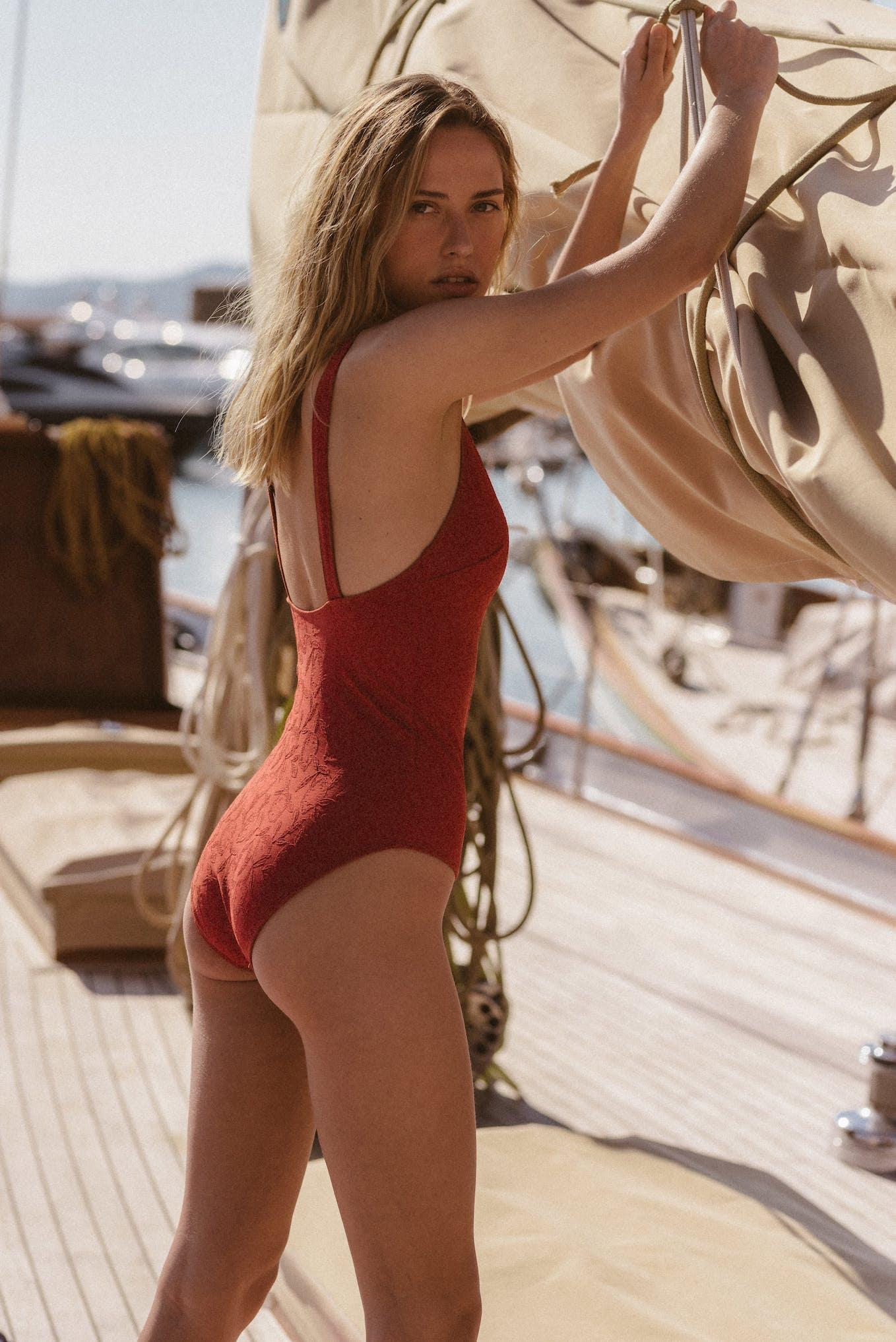 Swimsuit Partir avec toi Terracotta