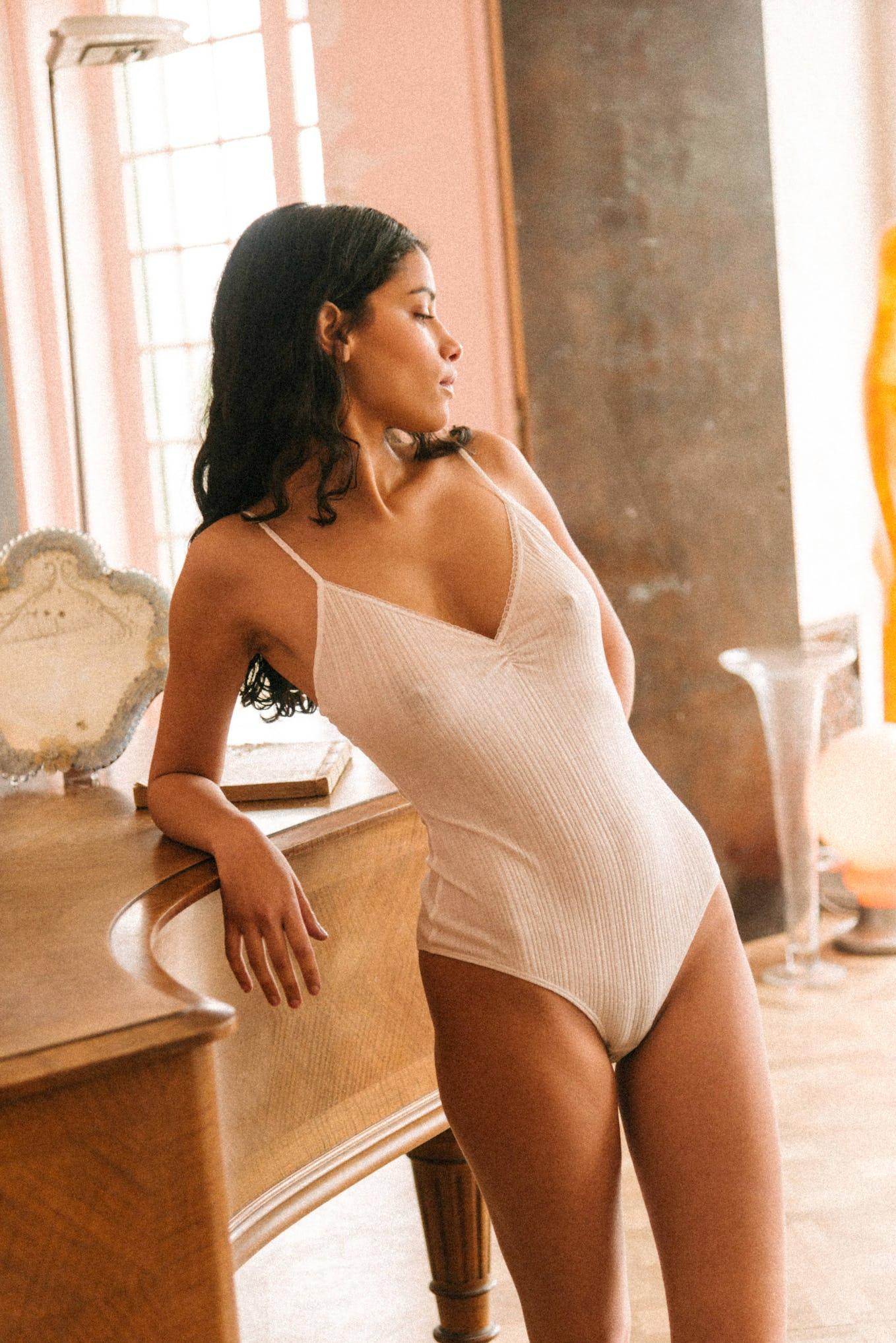 Bodysuit Tania in ivory