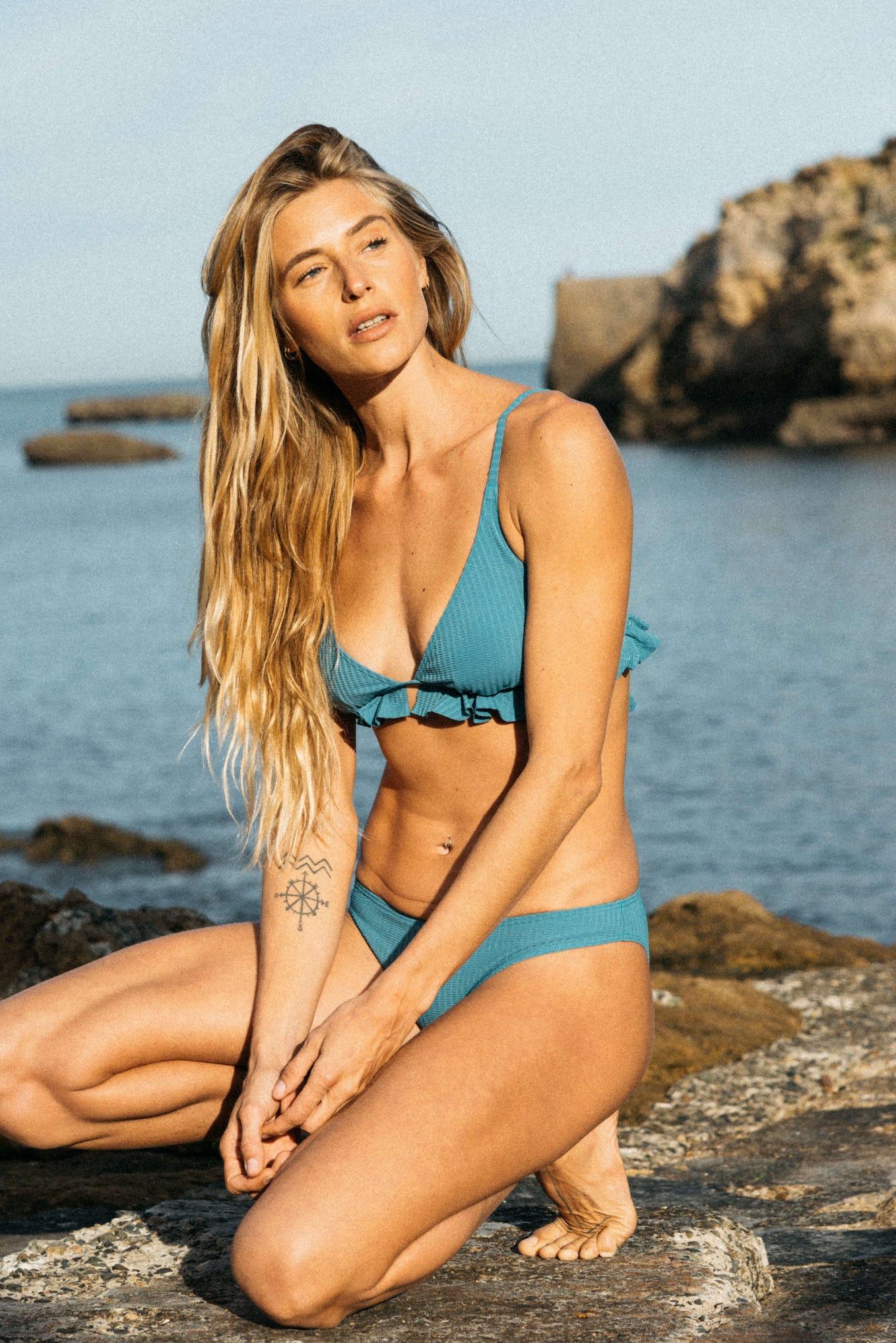 Bikini Carte postale Blue lagoon