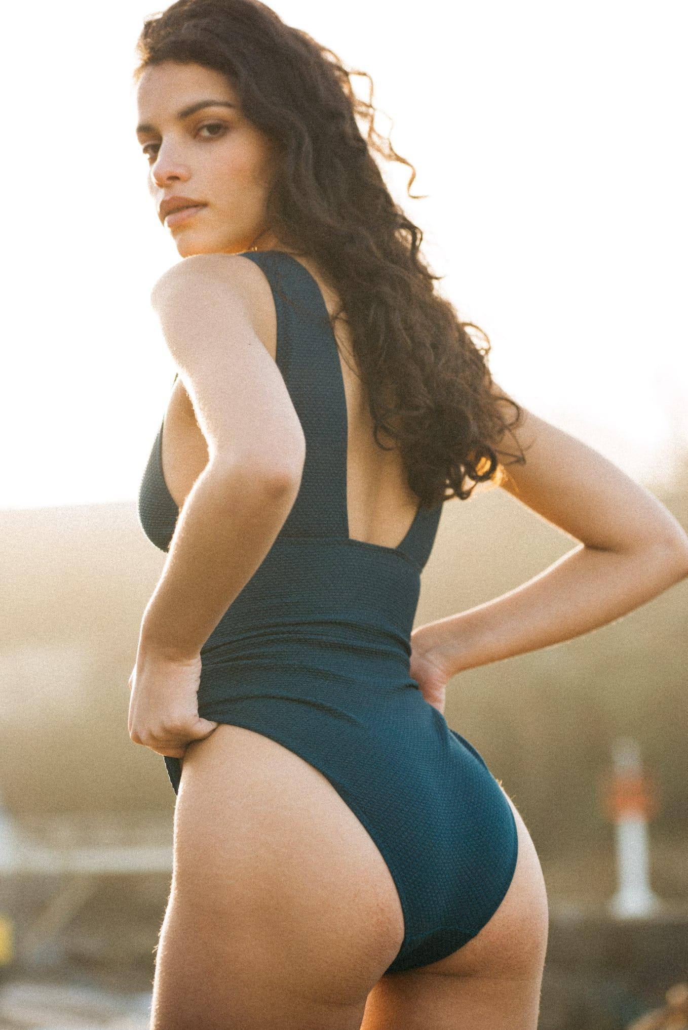 Swimsuit One piece Rêve d'horizon petrol blue