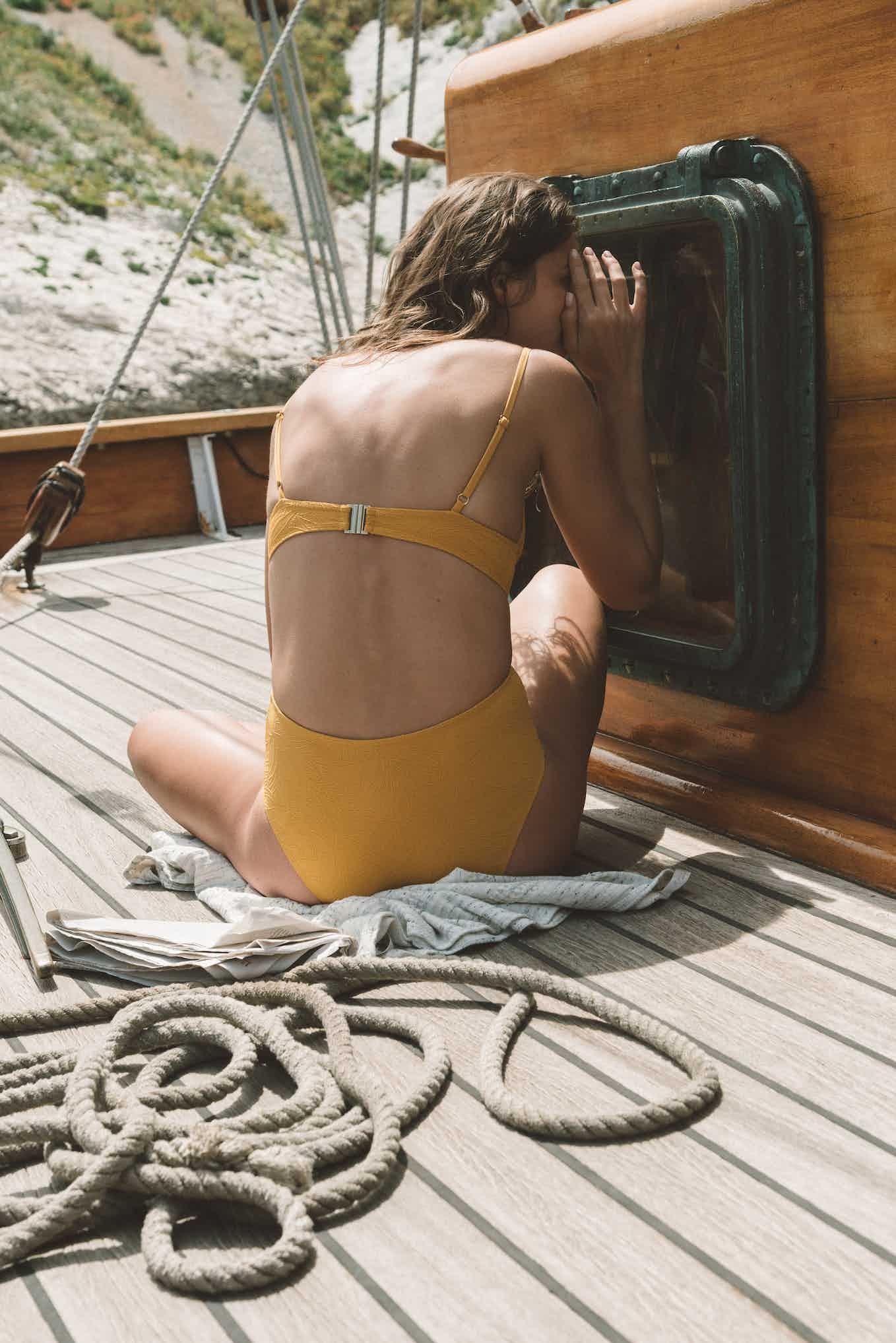 Swimsuit Rêve ensoleillé yellow sunflower