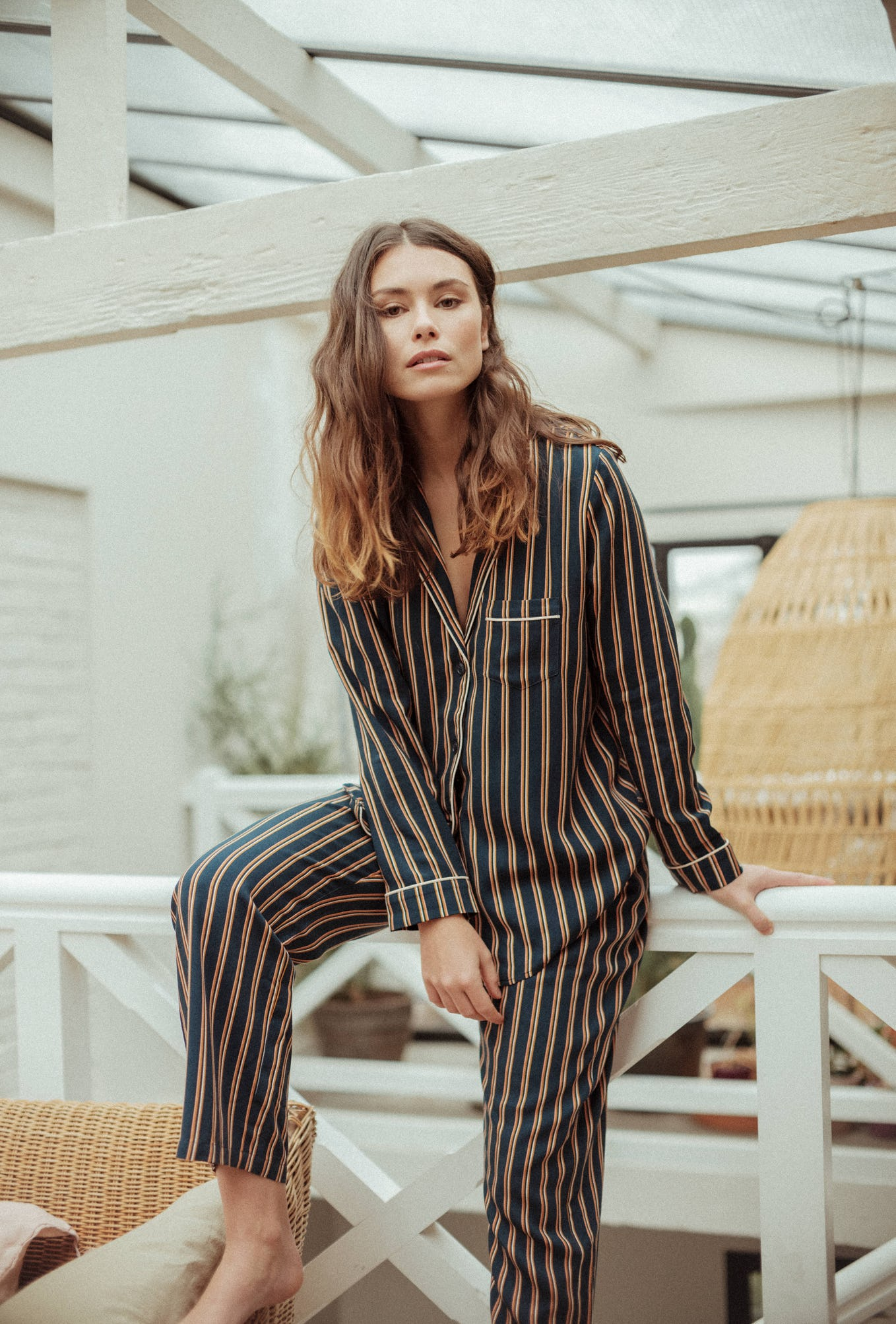 Pyjama Songe de Nuit imprimé rayures dandy