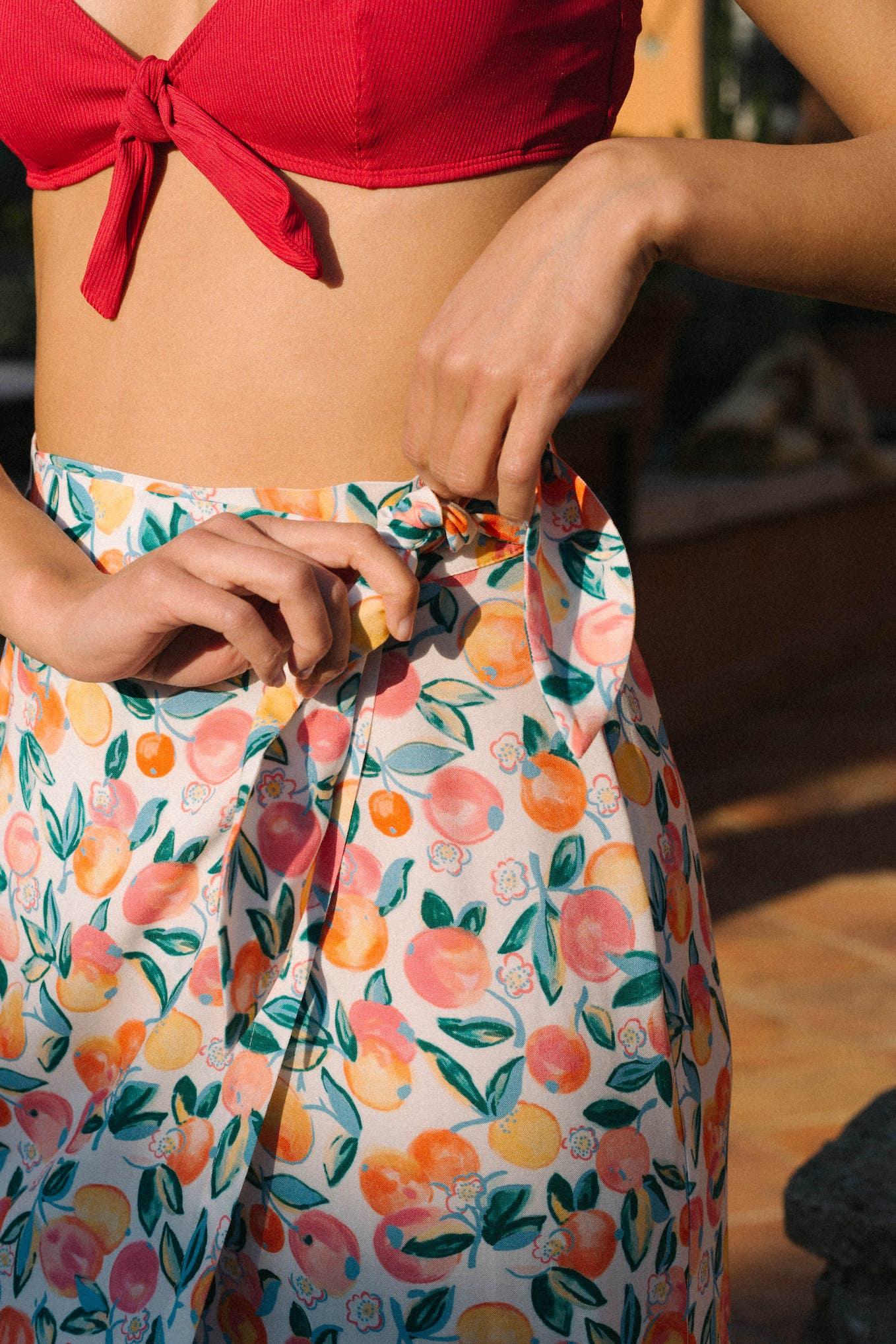 Bikini Murmures des vagues in strawberry