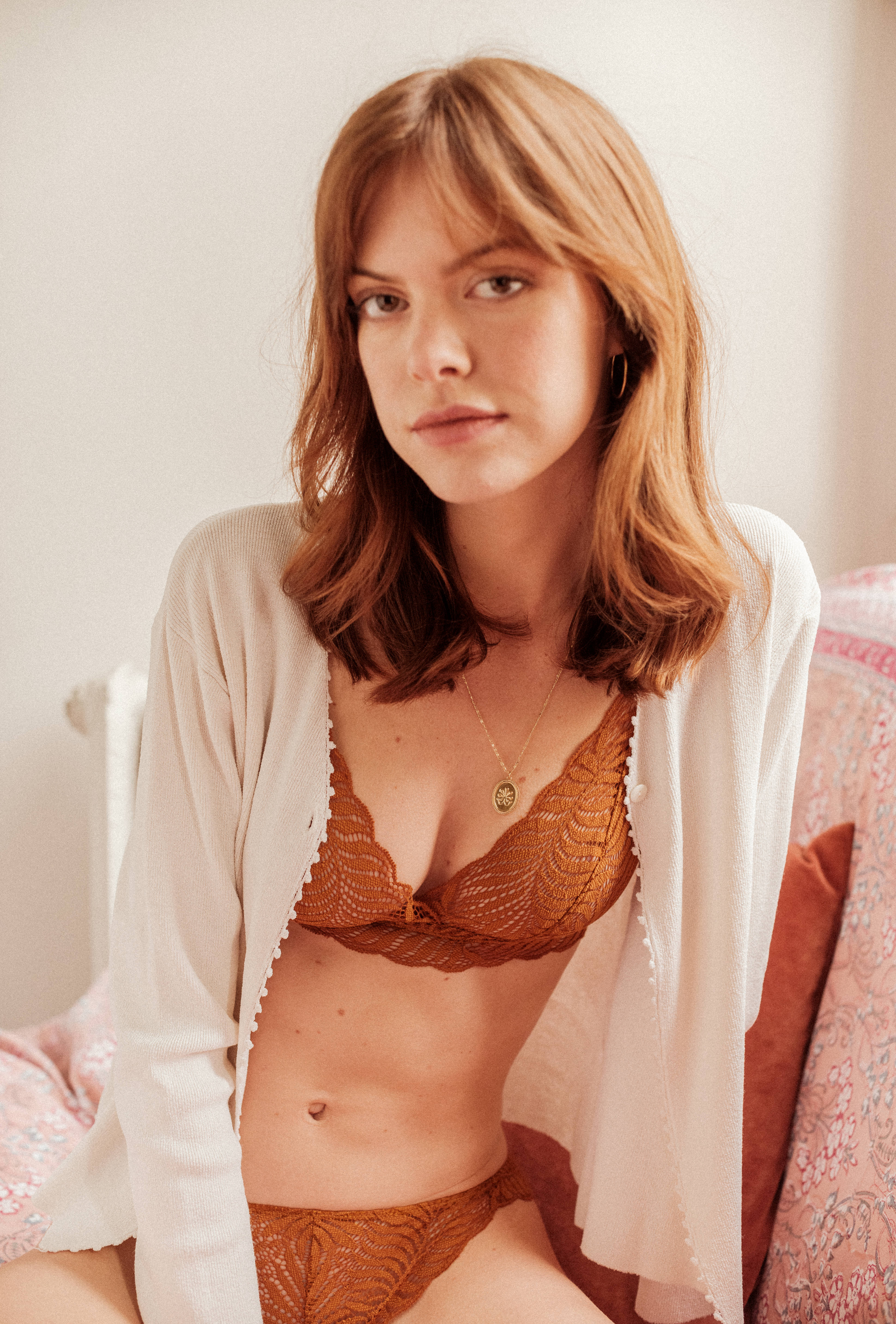 L'air du temps Triangle bra in yellow curry