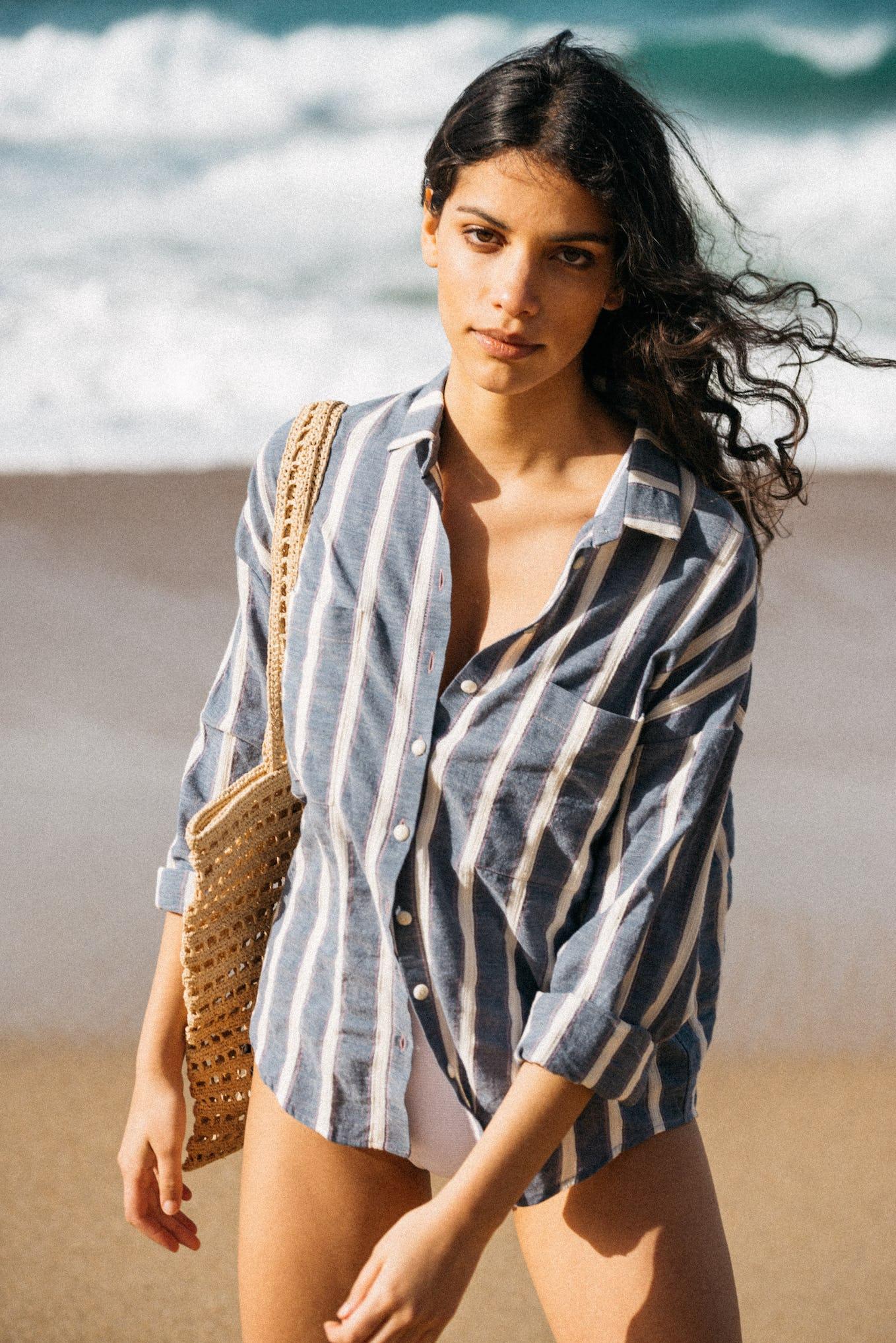 Shirt doux refuge blue stripes
