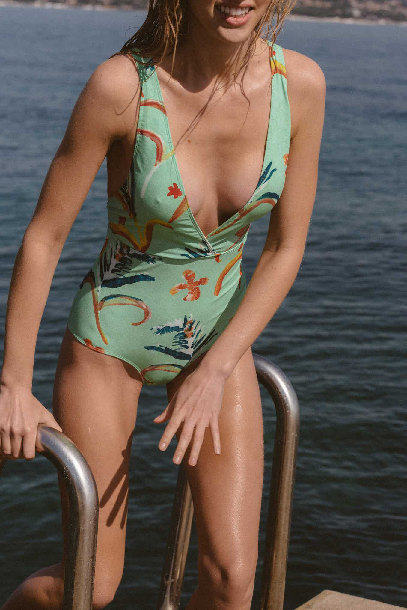 Swimsuit Paradis terrestre with Pampa print