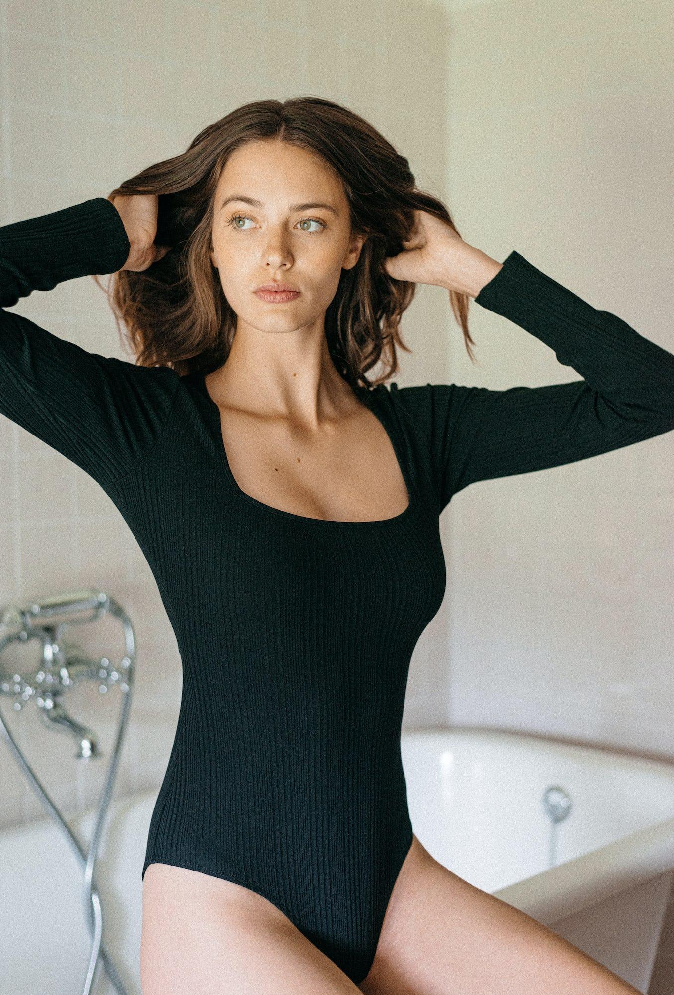 bodysuit louve noir