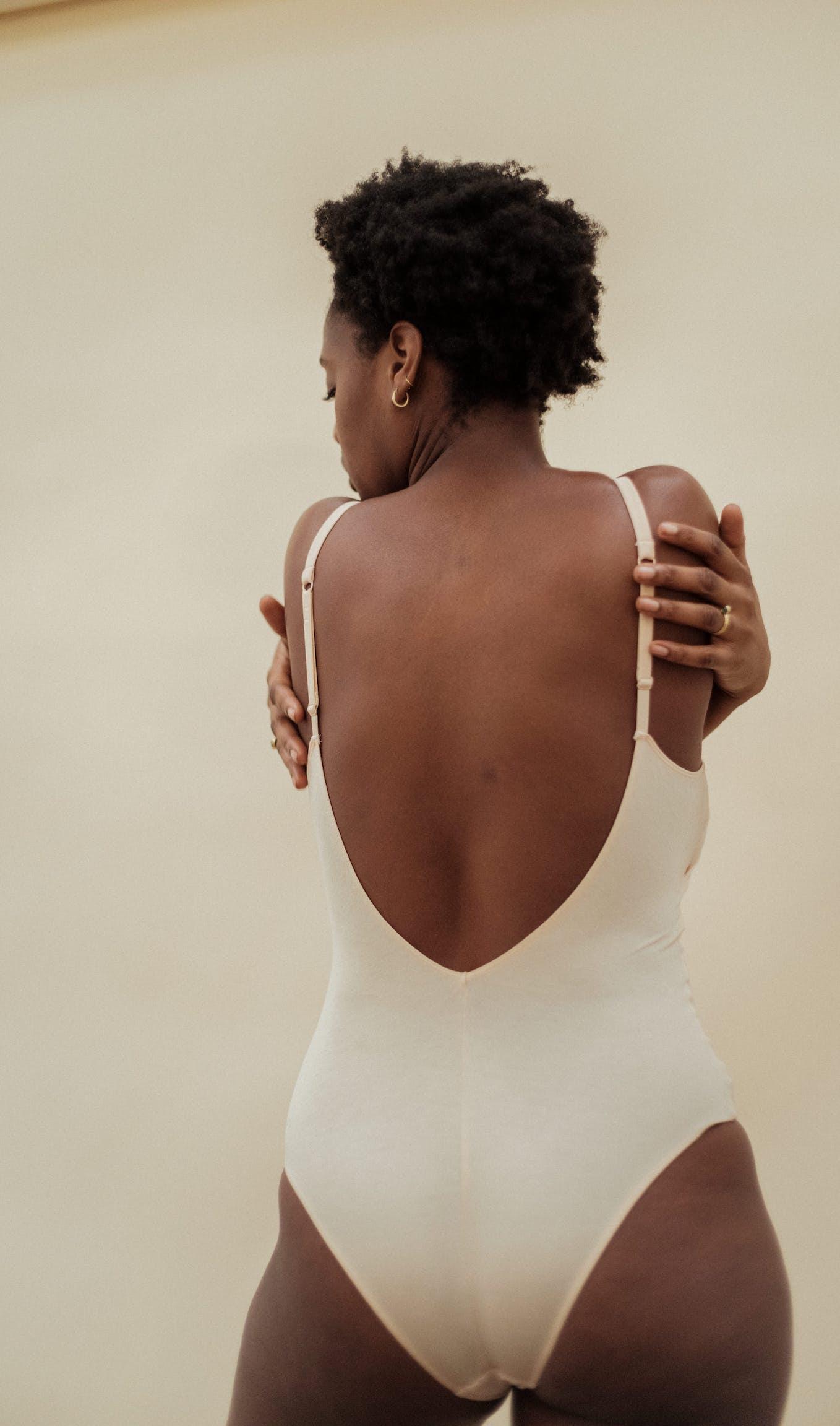 À fleur de peau Bodysuit in light beige