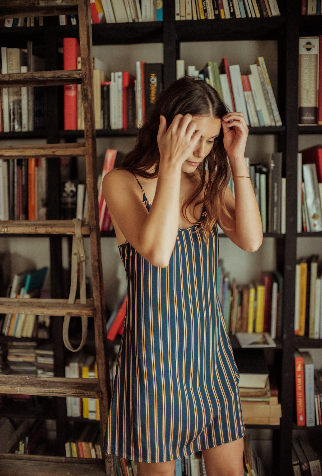 Night dress Songe de nuit with Dandy stripes