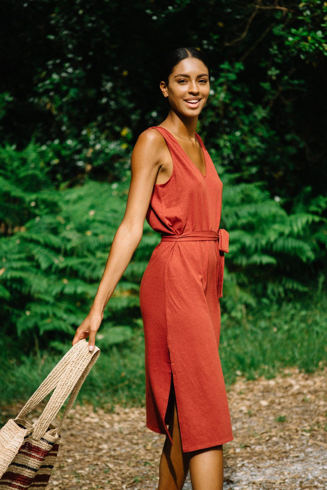 Balade rêveuse brown dress