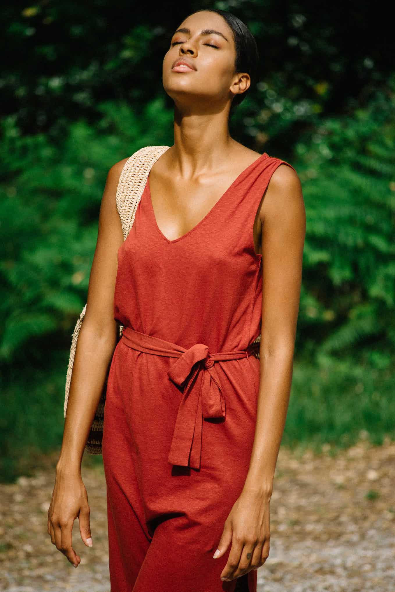 Robe Balade rêveuse brun