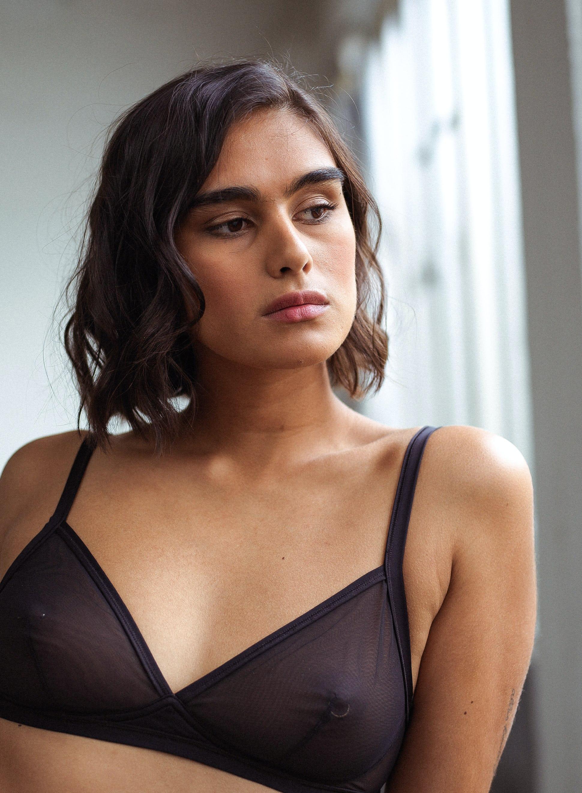 Triangle bra Histoire de femmes in black